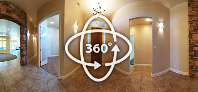 360 panorama view of a home interior