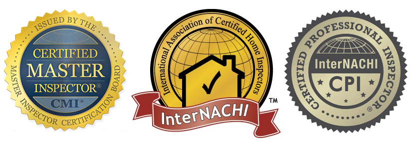 InterNACHI Logos: Certified Master Inspector, InterNACHI Member, and Certified Professional Inspector