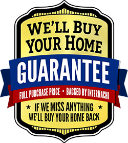 Buy Back Guarantee Logo: We'll Buy Your Home GUARANTEE. If We Miss Anything  We'll Buy Your Home Back.